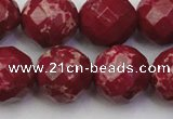CDE2138 15.5 inches 22mm faceted round dyed sea sediment jasper beads