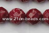 CDE2139 15.5 inches 24mm faceted round dyed sea sediment jasper beads