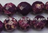 CDE2148 15.5 inches 22mm faceted round dyed sea sediment jasper beads
