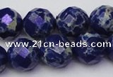 CDE2217 15.5 inches 20mm faceted round dyed sea sediment jasper beads