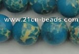 CDE2238 15.5 inches 18mm round dyed sea sediment jasper beads