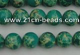 CDE2243 15.5 inches 6mm round dyed sea sediment jasper beads