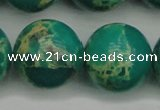 CDE2252 15.5 inches 24mm round dyed sea sediment jasper beads