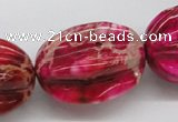 CDE23 15.5 inches 15*20mm star fruit shaped dyed sea sediment jasper beads