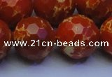 CDE2504 15.5 inches 22mm faceted round dyed sea sediment jasper beads