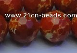 CDE2505 15.5 inches 24mm faceted round dyed sea sediment jasper beads