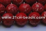 CDE2514 15.5 inches 14mm faceted round dyed sea sediment jasper beads