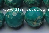 CDE2569 15.5 inches 24mm faceted round dyed sea sediment jasper beads