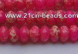 CDE2611 15.5 inches 10*14mm rondelle dyed sea sediment jasper beads