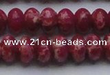 CDE2630 15.5 inches 15*20mm rondelle dyed sea sediment jasper beads
