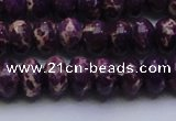 CDE2636 15.5 inches 12*16mm rondelle dyed sea sediment jasper beads