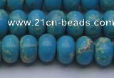 CDE2652 15.5 inches 12*16mm rondelle dyed sea sediment jasper beads