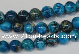 CDE266 15.5 inches 8mm round dyed sea sediment jasper beads