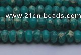 CDE2664 15.5 inches 5*8mm rondelle dyed sea sediment jasper beads