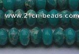 CDE2669 15.5 inches 13*18mm rondelle dyed sea sediment jasper beads
