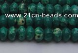 CDE2673 15.5 inches 7*10mm rondelle dyed sea sediment jasper beads