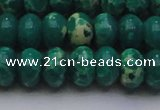 CDE2678 15.5 inches 15*20mm rondelle dyed sea sediment jasper beads