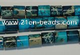 CDE280 15.5 inches 8*8mm tube dyed sea sediment jasper beads