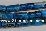 CDE282 15.5 inches 8*17mm tube dyed sea sediment jasper beads