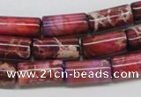 CDE34 15.5 inches 8*16mm column dyed sea sediment jasper beads