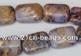 CDE437 15.5 inches 13*18mm rectangle dyed sea sediment jasper beads