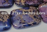 CDE442 15.5 inches 25*35mm rectangle dyed sea sediment jasper beads