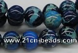 CDE45 15.5 inches 12mm round dyed sea sediment jasper beads wholesale