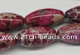CDE484 15.5 inches 15*30mm rice dyed sea sediment jasper beads