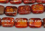 CDE553 15.5 inches 12*16mm rectangle dyed sea sediment jasper beads
