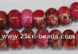 CDE588 15.5 inches 9*14mm rondelle dyed sea sediment jasper beads