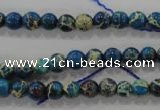 CDE811 15.5 inches 6mm round dyed sea sediment jasper beads wholesale