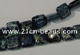 CDE901 15.5 inches 8*8mm square dyed sea sediment jasper beads