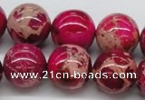 CDI05 16 inches 18mm round dyed imperial jasper beads wholesale