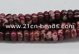 CDI06 16 inches 4*8mm rondelle dyed imperial jasper beads wholesale