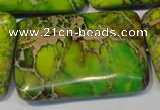 CDI130 15.5 inches 30*45mm rectangle dyed imperial jasper beads