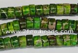 CDI138 15.5 inches 4*8mm heishi dyed imperial jasper beads