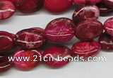 CDI14 16 inches 10*14mm oval dyed imperial jasper beads wholesale