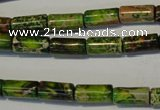 CDI140 15.5 inches 6*12mm tube dyed imperial jasper beads