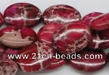 CDI15 16 inches 15*20mm oval dyed imperial jasper beads wholesale