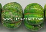 CDI150 15.5 inches 25*34mm pumpkin dyed imperial jasper beads