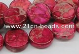 CDI17 16 inches 16mm coin dyed imperial jasper beads wholesale