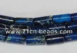 CDI226 15.5 inches 6*12mm tube dyed imperial jasper beads
