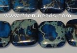 CDI241 15.5 inches 20*20mm square dyed imperial jasper beads