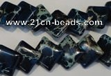 CDI255 15.5 inches 12*12mm diamond dyed imperial jasper beads