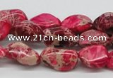 CDI26 16 inches 10*20mm nuggets dyed imperial jasper beads wholesale