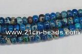 CDI274 15.5 inches 4*6mm rondelle dyed imperial jasper beads