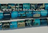CDI280 15.5 inches 8*8mm tube dyed imperial jasper beads