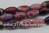 CDI30 16 inches 8*12mm rice dyed imperial jasper beads wholesale