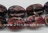 CDI36 16 inches 15*20mm star fruit shaped dyed imperial jasper beads