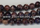 CDI362 15.5 inches 8mm round dyed imperial jasper beads